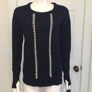Blanc Noir 100% Merino Wool Sweater Size M, NWT!